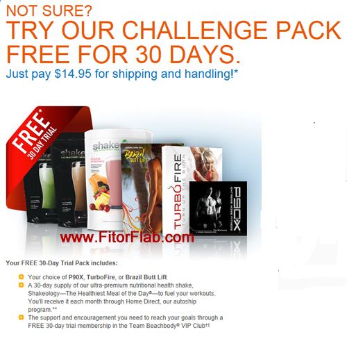 Free Challenge Pack Trial Offer for P90X, TurboFire, and Brazil Butt Lift