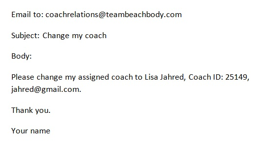 How to change my Team Beachbody Coach