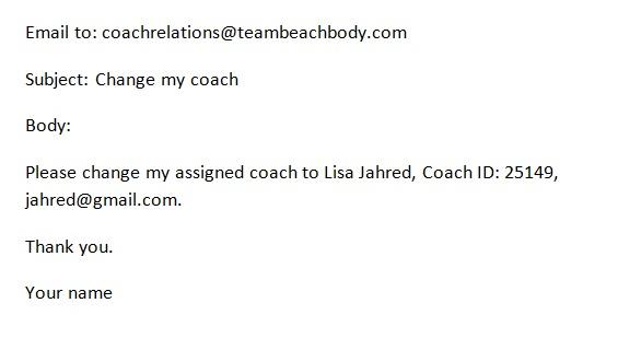 How to change my Team Beachbody Coach