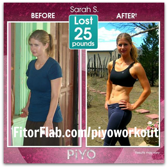 PiYo Workout results - lost 25 pounds