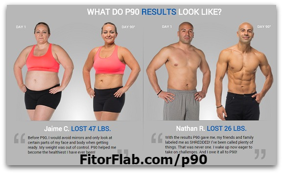 P90 workout results