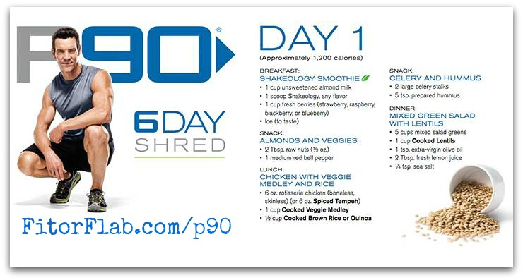 P90 6-day Shred Program