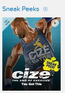CIZE fitness - try before you buy